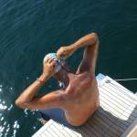 Paolo Chiarino durchschwimmt den lago Maggiore